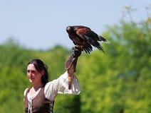 mer tamer fågelkvinnlig Royaltyfria Bilder