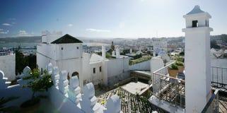 mer tangier rooftops Arkivbild