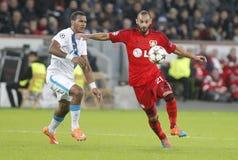 Ömer Toprak and Salomón Rondón Bayer 04 Leverkusen v Zénith Saint-Pétersbourg Champion League Stock Image