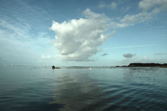 Mer tranquille panaramic Photo libre de droits