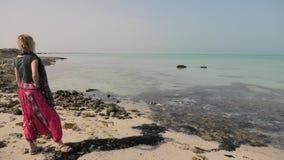 Mer tropicale dans le golfe Persique banque de vidéos