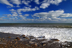 Mer tropicale orageuse Photographie stock libre de droits