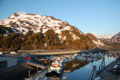 mer whittier port Arkivfoton