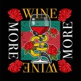 mer wine vektor illustrationer