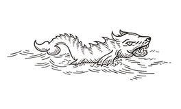Mer Wolf Monster Image libre de droits