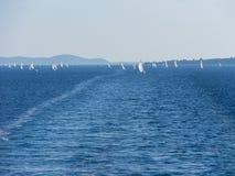mer, yachts, régate Photographie stock libre de droits