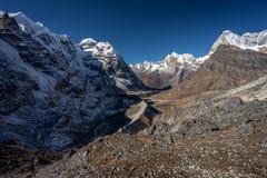 Mera地区,喜马拉雅山山脉,尼泊尔风景  库存照片