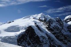 从Mera La看的Mera峰顶 免版税库存图片