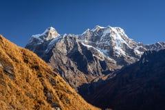 Mera peak, highest trekking peak in Everest region, Nepal royalty free stock photo