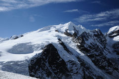 Mera Peak seen from Mera La Royalty Free Stock Images