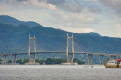 Merah Putih Bridge, Ambon City, Maluku, Indonesia Royalty Free Stock Photo
