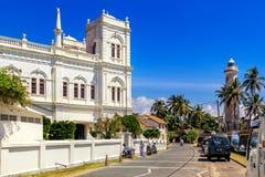 Meran Jama Masjid清真寺位于老堡垒的疆土在一个晴天 库存照片