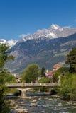 Meran, South Tyrol. Post bridge in Meran, South Tyrol Stock Image