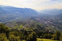 Meran und das Tal von der Etsch, Italien Lizenzfreie Stockfotografie