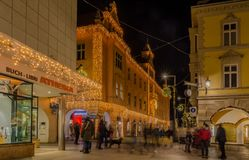 MERANO, νότιο Τύρολο, Ιταλία - 16 Δεκεμβρίου 2016: Meran Merano στο νότιο Τύρολο, Ιταλία, κατά τη διάρκεια των Χριστουγέννων με τ Στοκ φωτογραφία με δικαίωμα ελεύθερης χρήσης