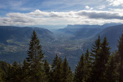 Merano from above. Beautiful view above Merano syouth tyrol royalty free stock image