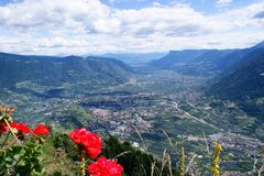 Merano in the Adige Valley in South Tyrol Stock Images