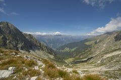 Merano berg i Italien Arkivfoto