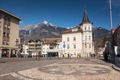 Merano, Bozen, Alto Adige, Italien stockbild