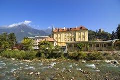 Merano, lessive le Tirol, Italie image stock