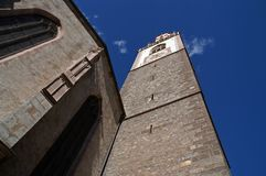 Merano or Meran clock tower Stock Photos