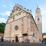 Merano Meran - la catedral imágenes de archivo libres de regalías