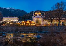 Christmas market in Merano, Trentino Alto Adige, Italy. Merano or Meran is a town and comune in South Tyrol, northern Italy stock images