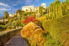 Gardens of Castel Trauttmansdorff in Merano Italy stock image