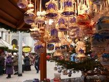 Merano, Trentino, W?ochy 01/06/2011 Bo?e Narodzenie rynek fotografia stock