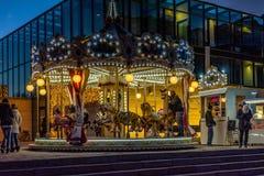MERANO, Zuid-Tirol, Italië - December 16, 2016: Meran Merano in Zuid-Tirol, Italië, tijdens Kerstmis met christmansmarkt B Stock Foto's