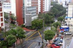 Meranti тайфуна приземлилось в город xiamen, фарфор Стоковая Фотография