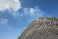Merapi火山 免版税库存图片