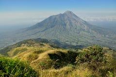 Merapi火山 免版税库存照片