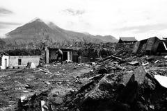 Merapi après éruption photographie stock libre de droits