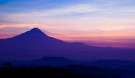 Merapi berg Royaltyfria Foton