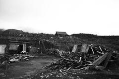 Merapi dopo l'eruzione Fotografie Stock Libere da Diritti