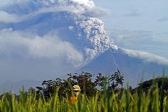 Merapi eruption Stock Photos