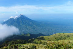 Merapi mountain. A verry beautiful merapi mountain. This mountain in central jave, indonesia Royalty Free Stock Photos