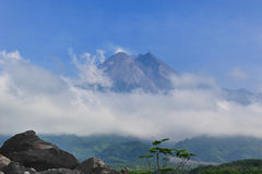 Merapi Volcano Royalty Free Stock Photo