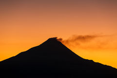 Merapi volcano on sunrise Stock Images