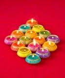 Meravigliosamente lampade di Lit per il festival indù di Diwali Immagine Stock Libera da Diritti