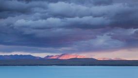 Meraviglioso si rannuvola il lago Pukaki, Nuova Zelanda Immagine Stock Libera da Diritti