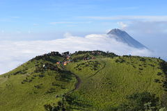 Merbabu Mount Royalty Free Stock Photo