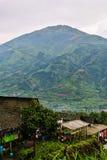 Merbabuvulkaan in centraal Java Stock Afbeelding