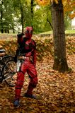 Deadpool at Lucca Comics and Games 2017. The merc witha  mouth, Deadpool cosplayer during the Lucca Comics and Games 2014 festival Stock Photos