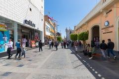 Mercaderes street Arequipa Peru royalty free stock images
