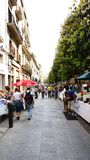 Mercadillo på en gata i Girona Royaltyfri Bild