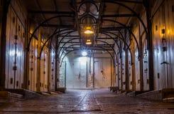 Mercado árabe cerrado en la noche Imagen de archivo