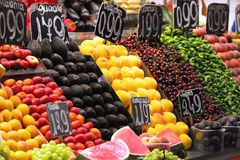 Mercado Imagens de Stock Royalty Free