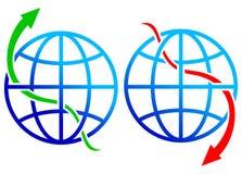 Mercado acima e para baixo ilustração do vetor